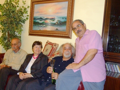 Con doña Pascale y amigos