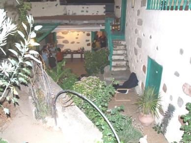 Detalle del patio de la Fundación Blas Sánchez
